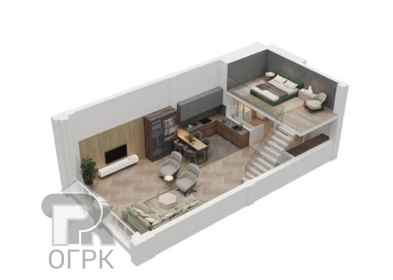 Купить 1-комнатную квартиру, №339602