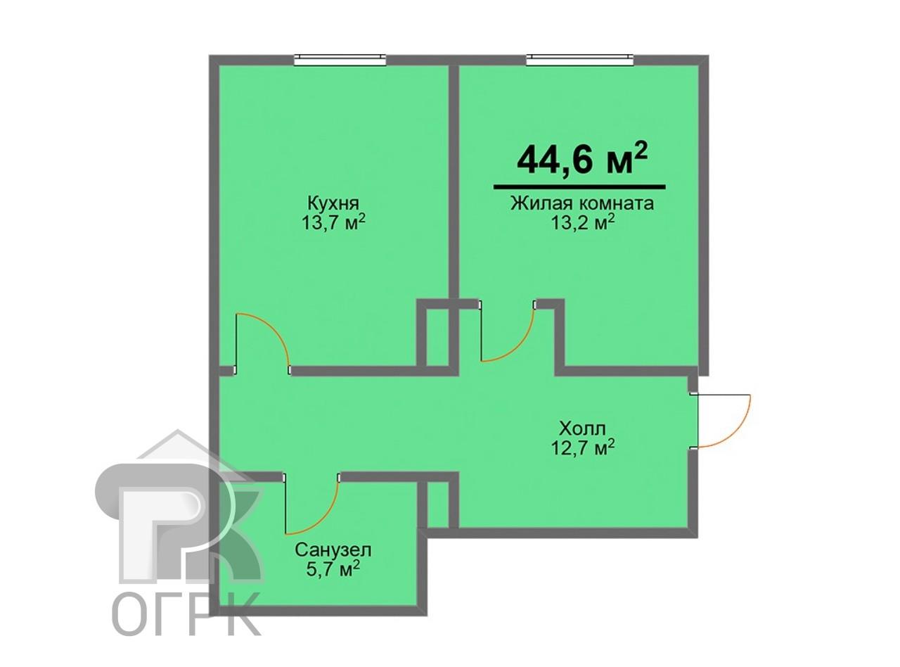 Купить 1-комнатную квартиру, деревня Куюки, Куюки, дер Куюки, ул. 13-й Квартал, д.5А, №332319
