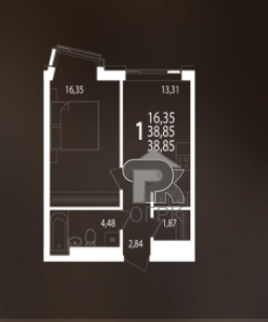 Купить 1-комнатную квартиру, №336929
