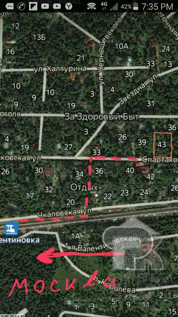 Купить землю, город Королёв, Королёв, мкрн Болшево, ул. Спартаковская, д.43, №326755