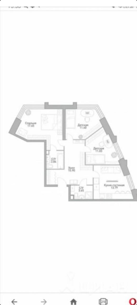Купить 3-комнатную квартиру, №336729