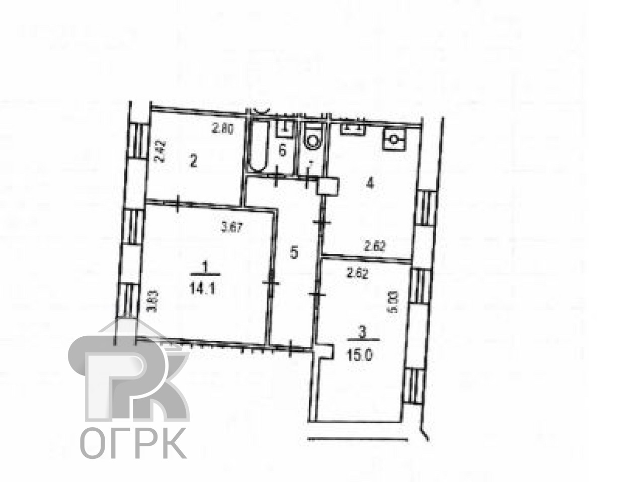 Купить 3-комнатную квартиру, №339211