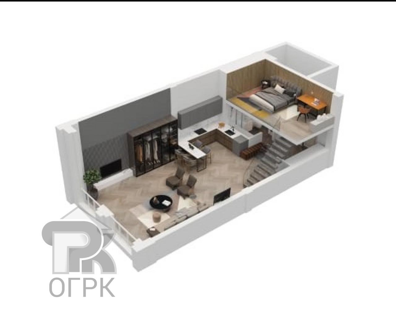 Купить 1-комнатную квартиру, №339603