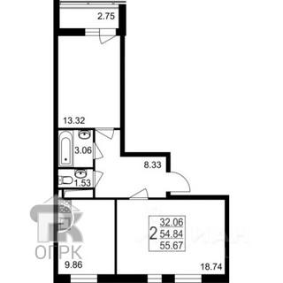 Купить 2-комнатную квартиру, город Красногорск, Красногорск, раб.пос Нахабино, д.35, №333469
