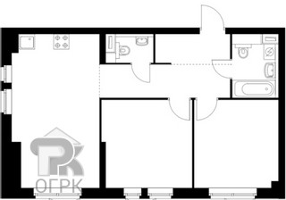 Купить 2-комнатную квартиру, №335372