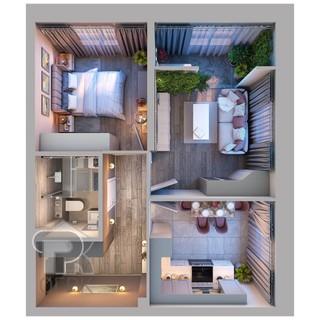 Купить 2-комнатную квартиру, №337632