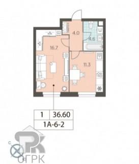 Купить 1-комнатную квартиру, №335038