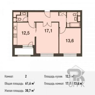 Купить 2-комнатную квартиру, город Москва, район Покровское-Стрешнево, шоссе Волоколамское, 69, строение 1, дом 69, №166817